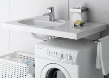Раковина над стиральной машиной в Леруа Мерлен