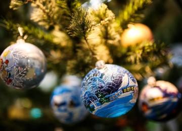 Новогодние игрушки в Леруа Мерлен