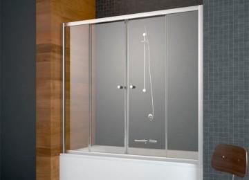 Стеклянная шторка для ванной в Леруа Мерлен