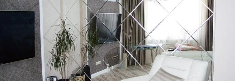 Зеркальная плитка с фацетом в Леруа Мерлен