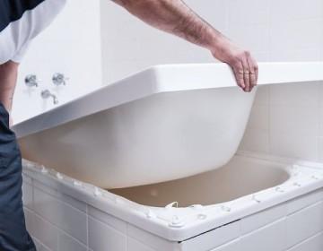 Акриловый вкладыш в ванну в Леруа Мерлен
